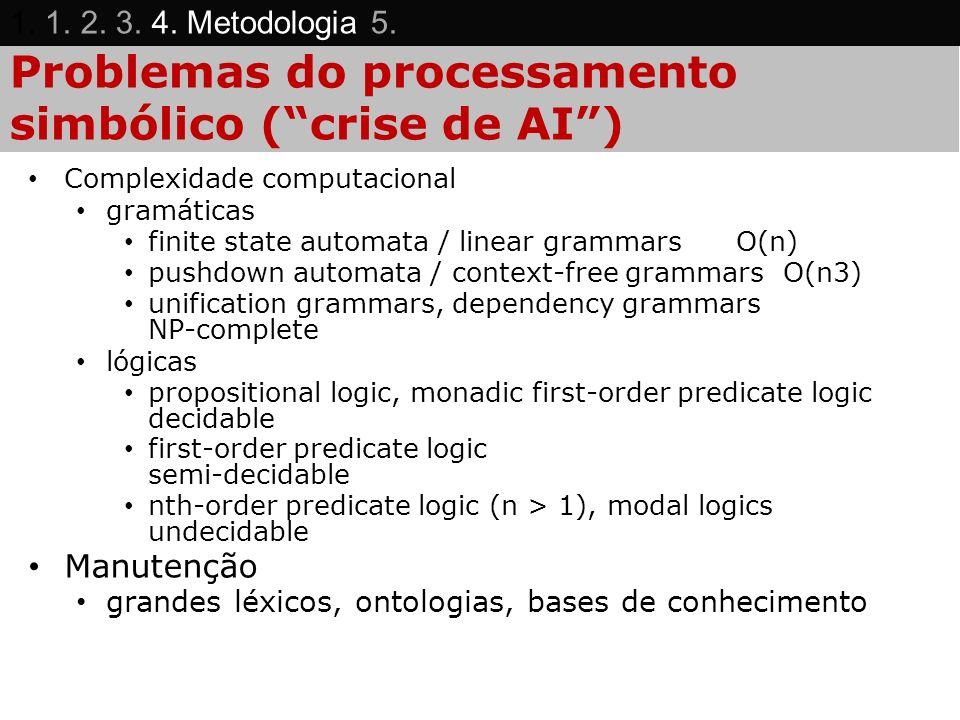 Problemas do processamento simbólico ( crise de AI )
