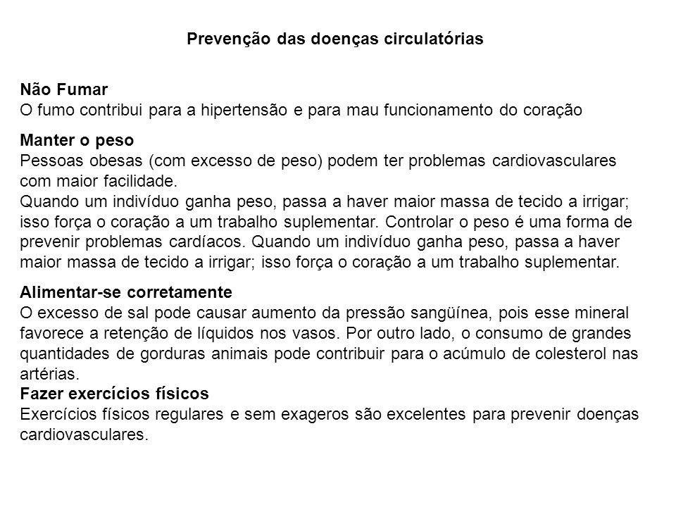 Prevenção das doenças circulatórias