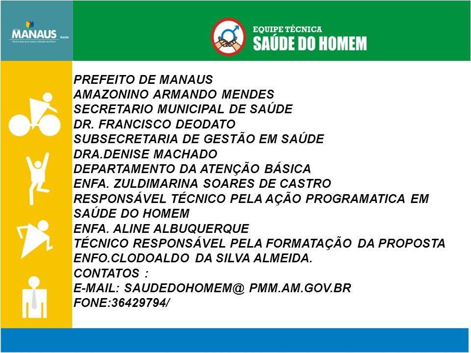 PREFEITO DE MANAUS AMAZONINO ARMANDO MENDES SECRETARIO MUNICIPAL DE SAÚDE DR.