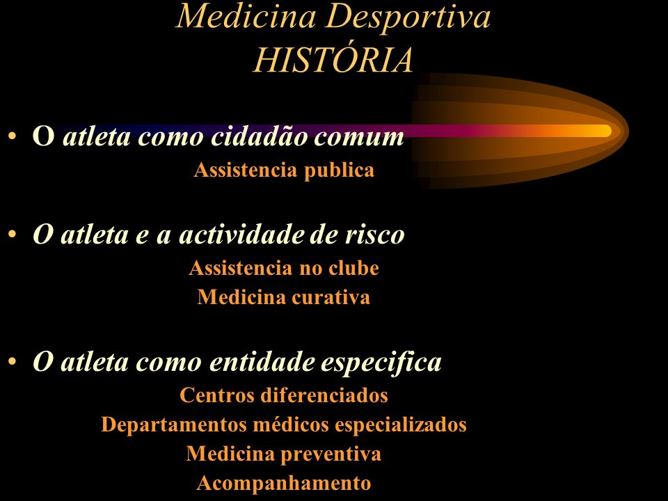 Medicina Desportiva HISTÓRIA