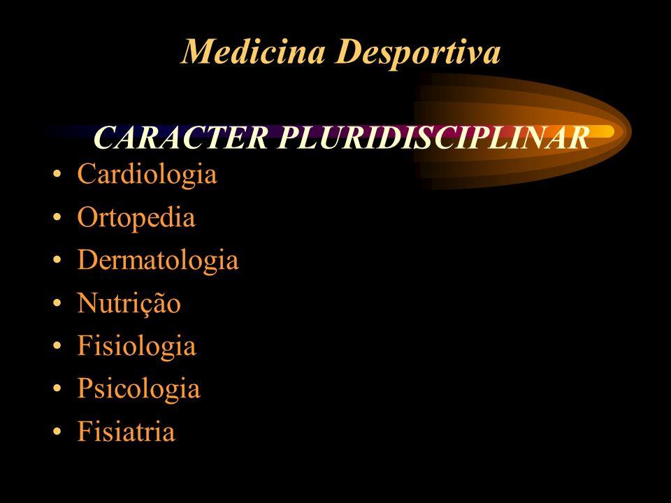 Medicina Desportiva CARACTER PLURIDISCIPLINAR