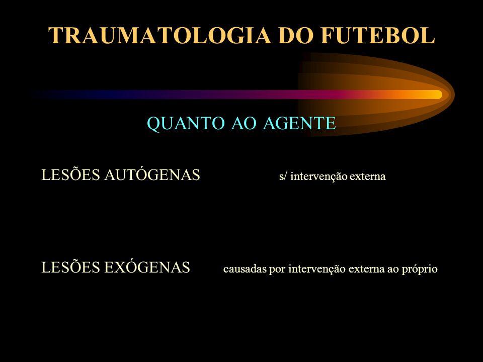 TRAUMATOLOGIA DO FUTEBOL