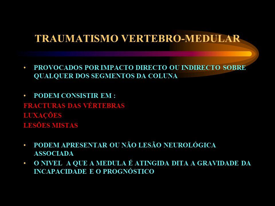 TRAUMATISMO VERTEBRO-MEDULAR