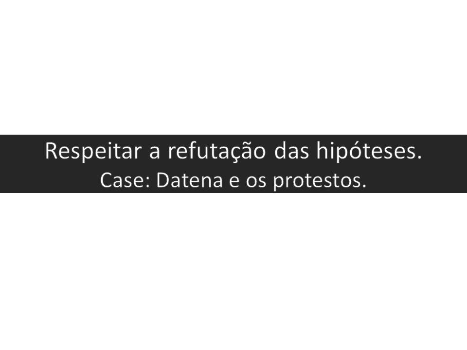 Respeitar a refutação das hipóteses. Case: Datena e os protestos.