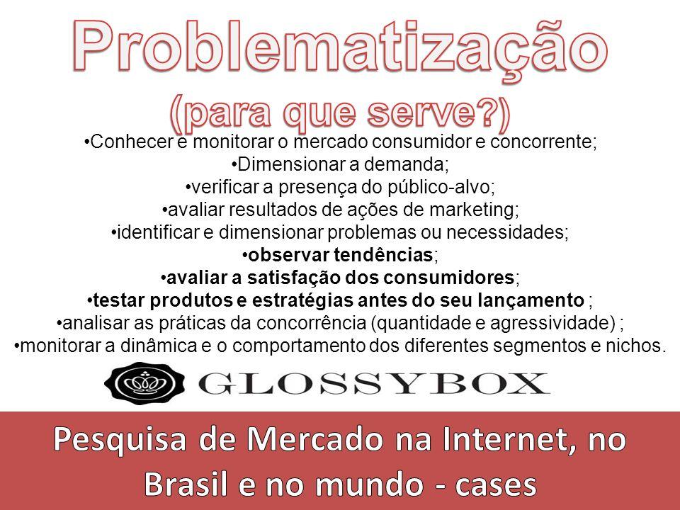Pesquisa de Mercado na Internet, no Brasil e no mundo - cases