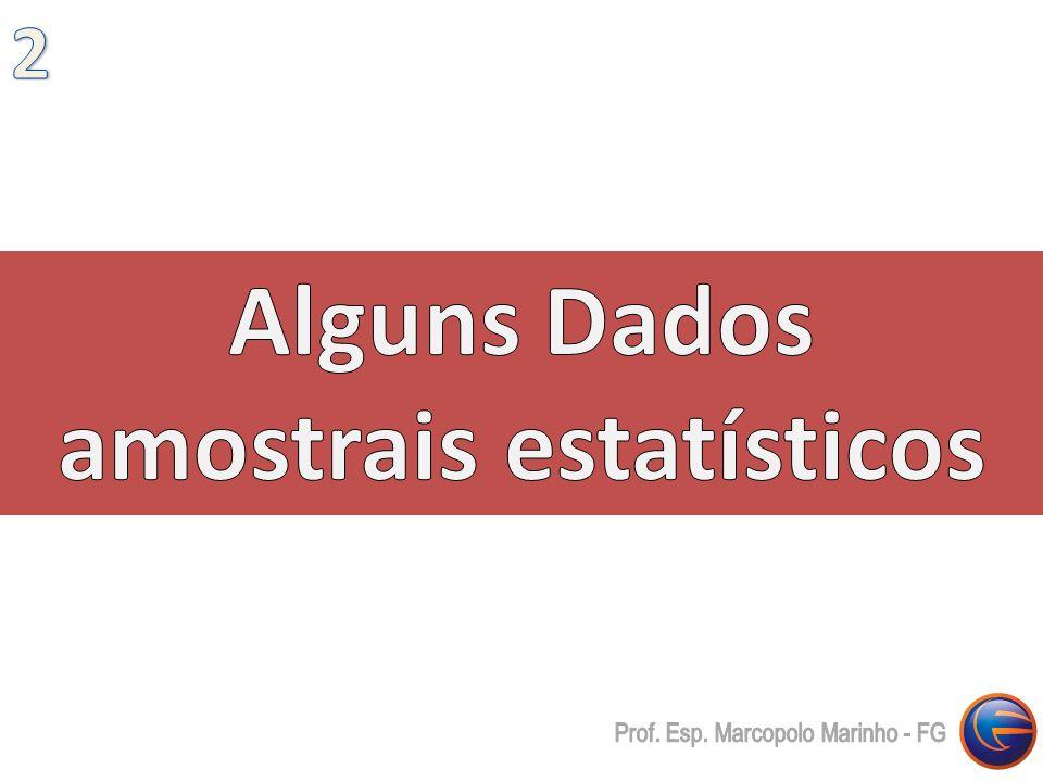 Alguns Dados amostrais estatísticos