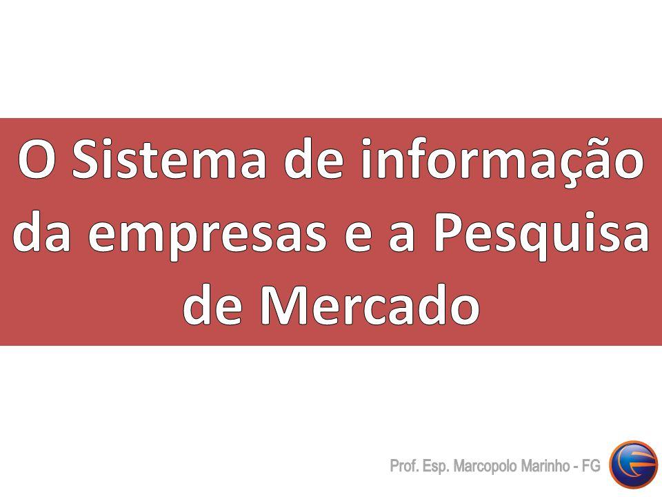 O Sistema de informação da empresas e a Pesquisa de Mercado