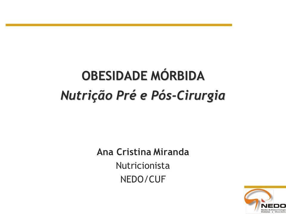 OBESIDADE MÓRBIDA Nutrição Pré e Pós-Cirurgia