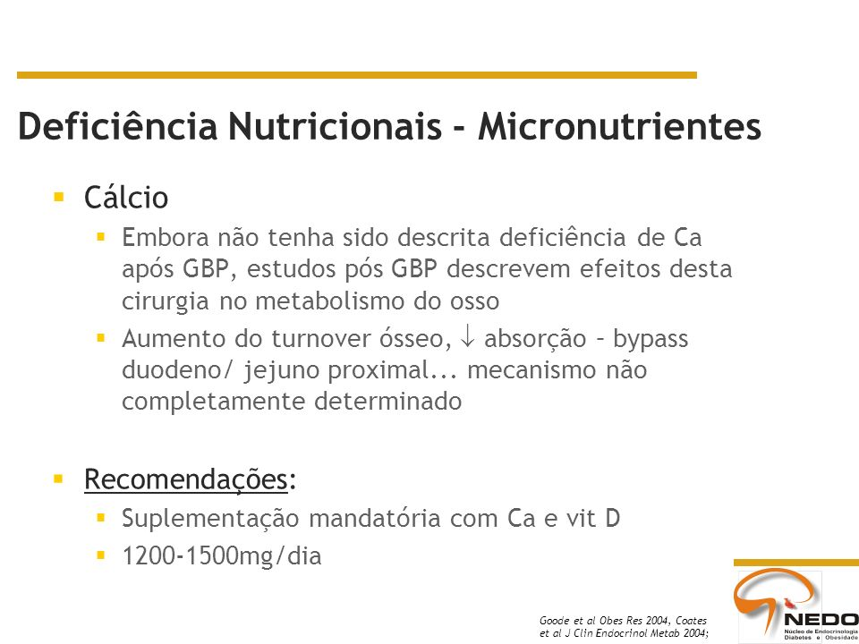 Deficiência Nutricionais - Micronutrientes