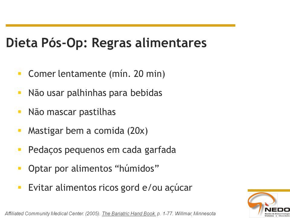 Dieta Pós-Op: Regras alimentares