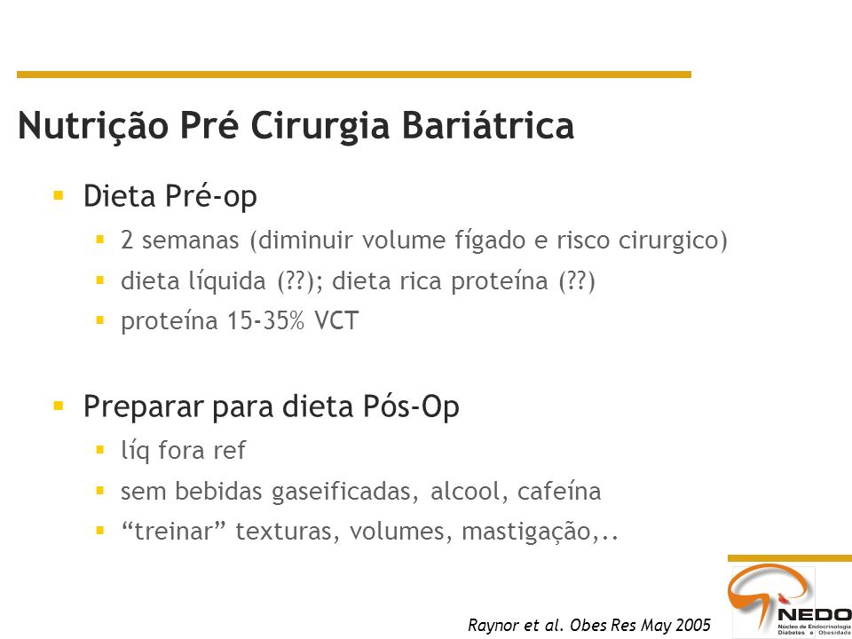 Nutrição Pré Cirurgia Bariátrica