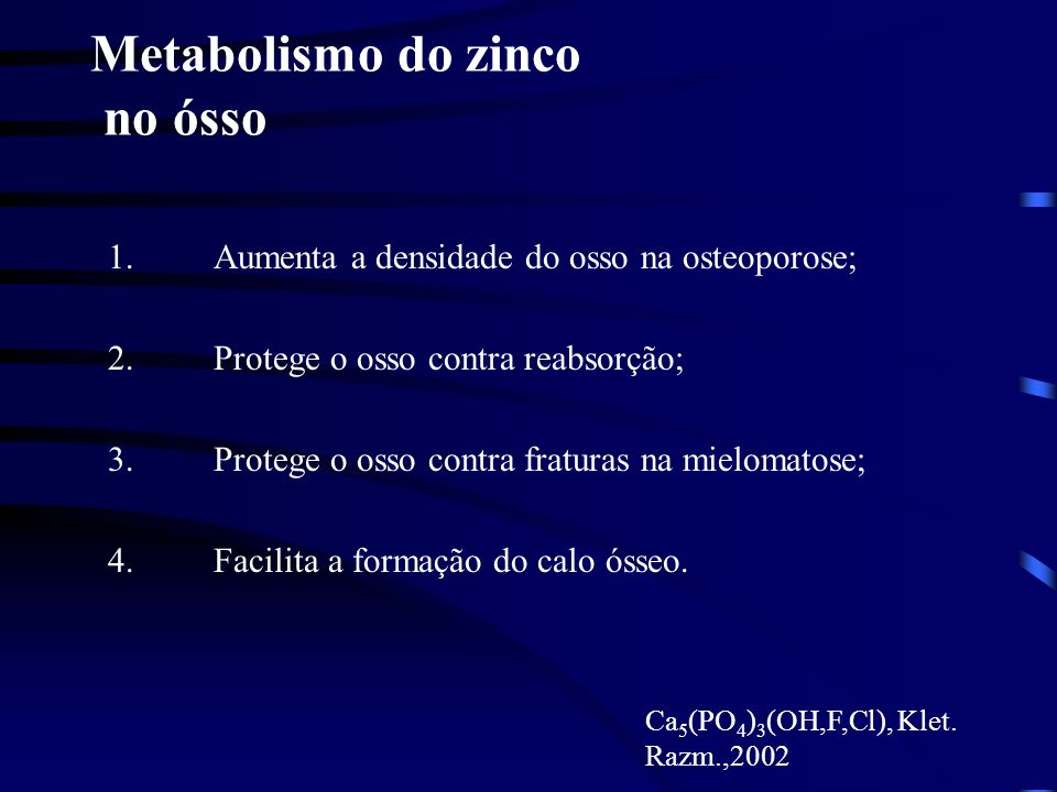Metabolismo do zinco no ósso