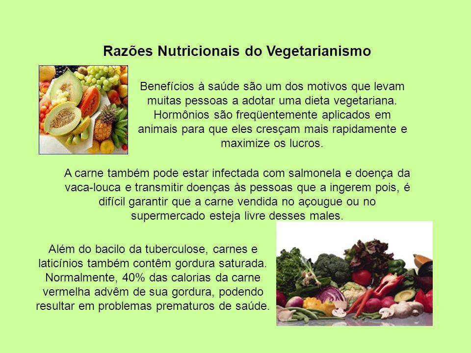 Razões Nutricionais do Vegetarianismo