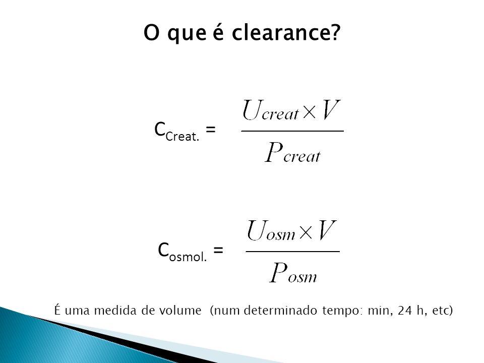 O que é clearance CCreat. = Cosmol. =