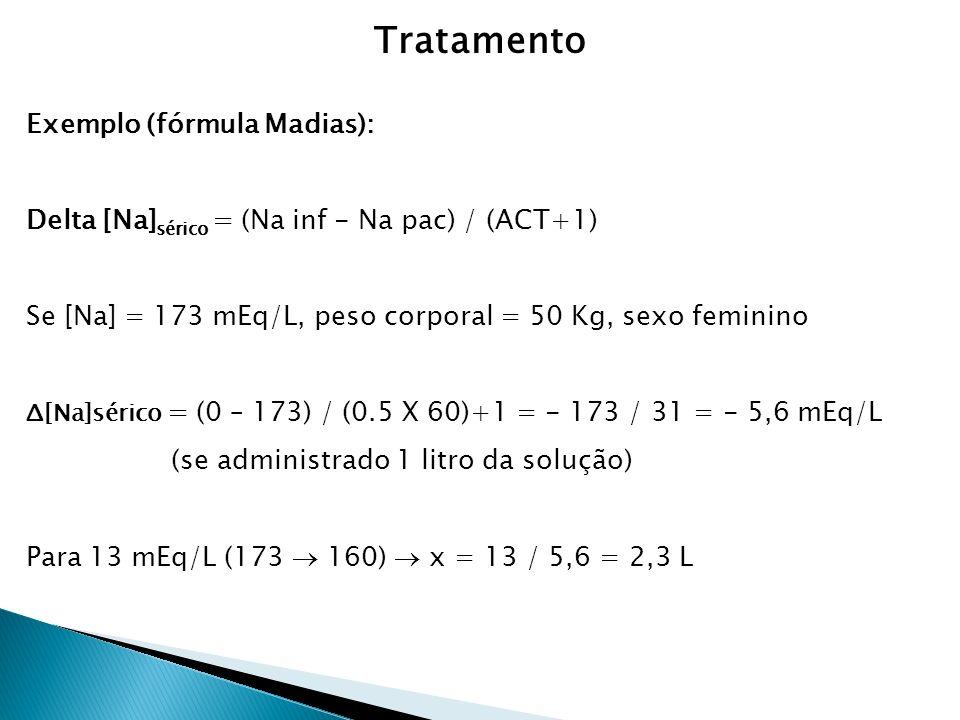 Tratamento Exemplo (fórmula Madias):