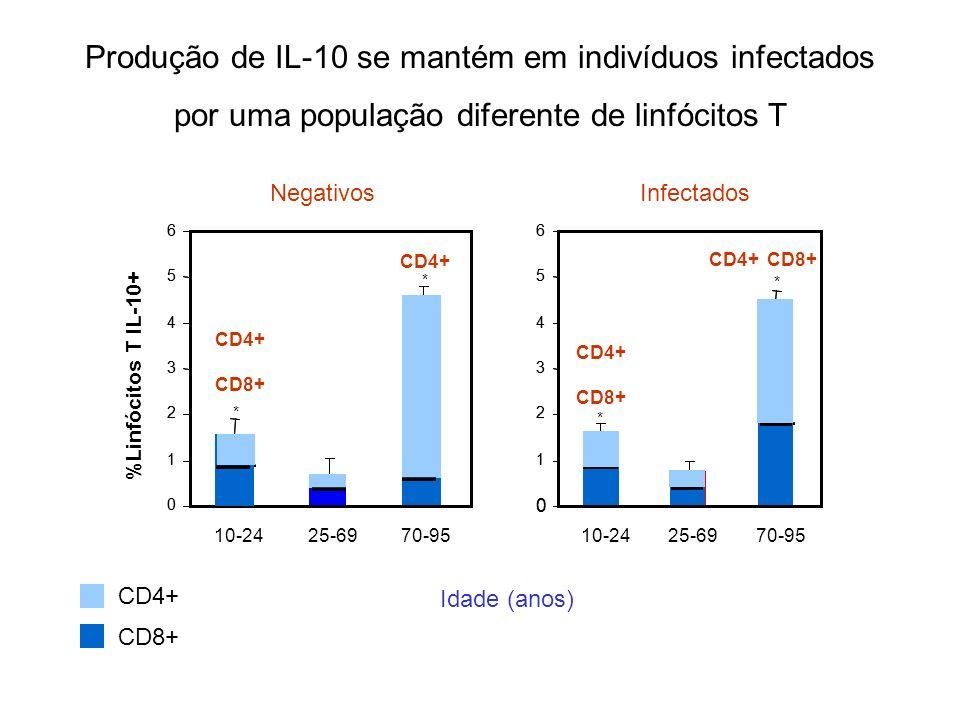 Produção de IL-10 se mantém em indivíduos infectados
