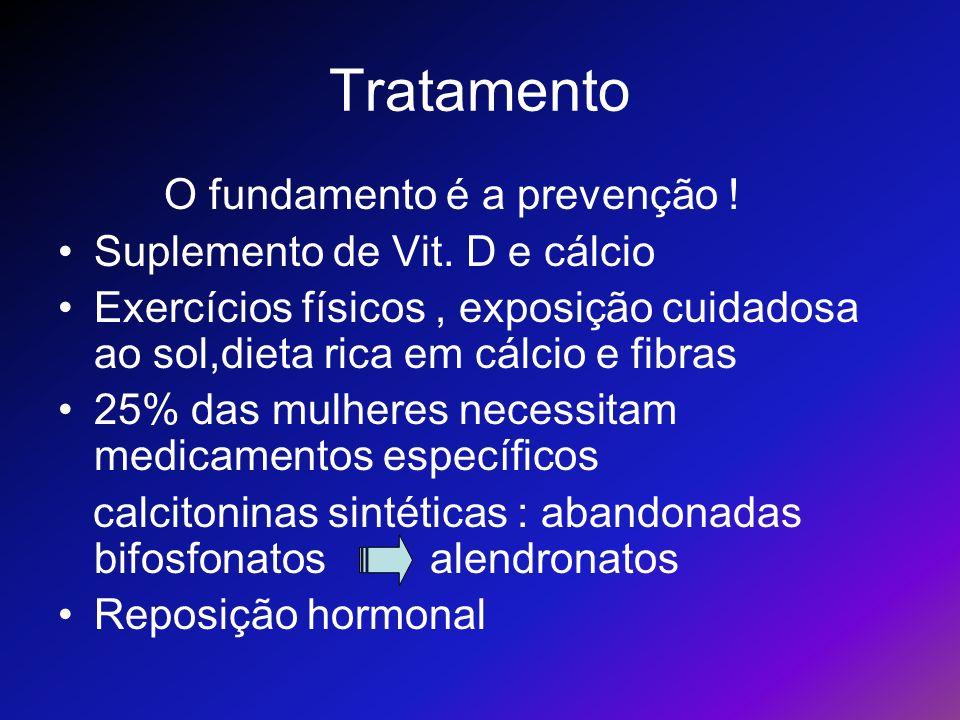 Tratamento O fundamento é a prevenção ! Suplemento de Vit. D e cálcio