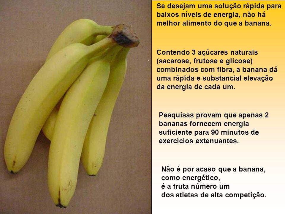 Se desejam uma solução rápida para baixos níveis de energia, não há melhor alimento do que a banana.