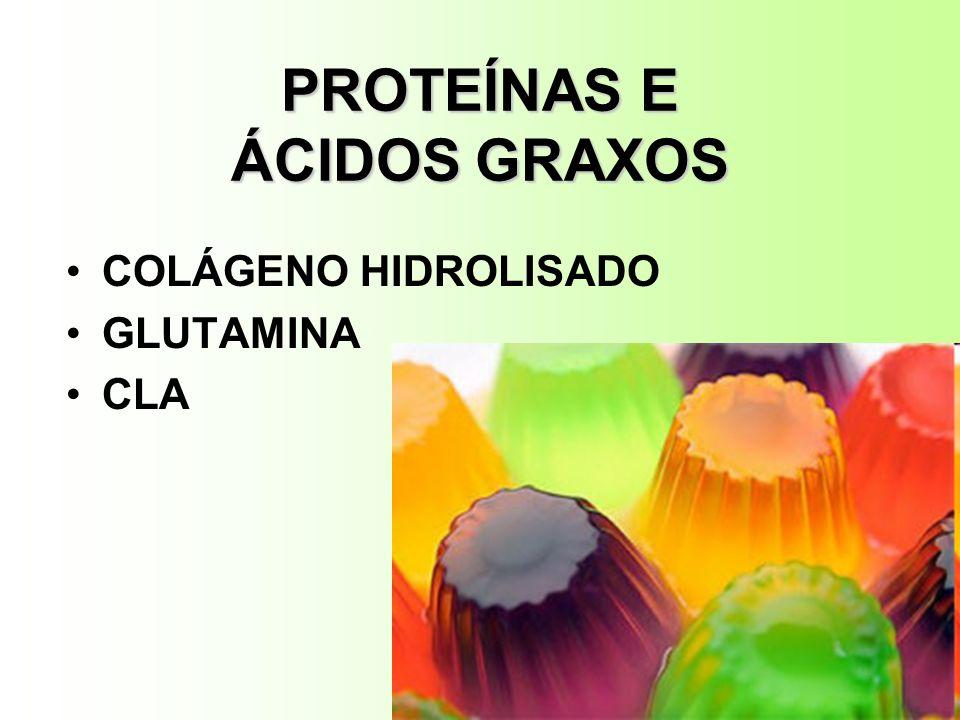 PROTEÍNAS E ÁCIDOS GRAXOS