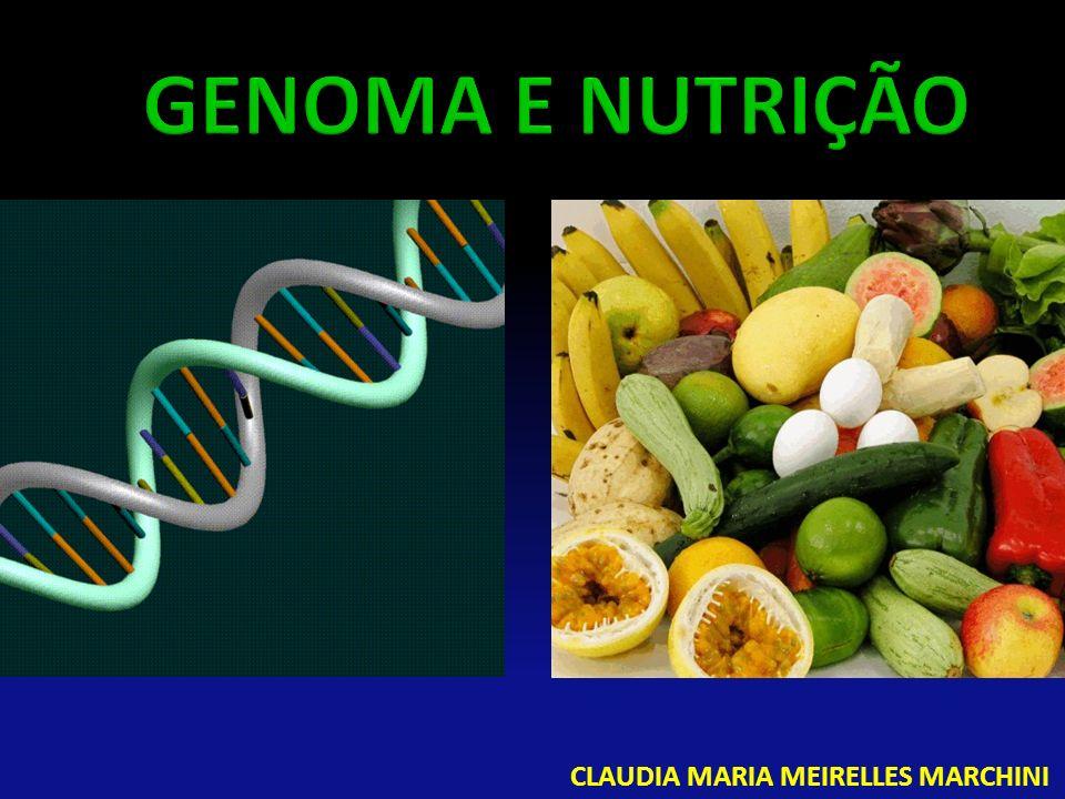 GENOMA E NUTRIÇÃO CLAUDIA MARIA MEIRELLES MARCHINI