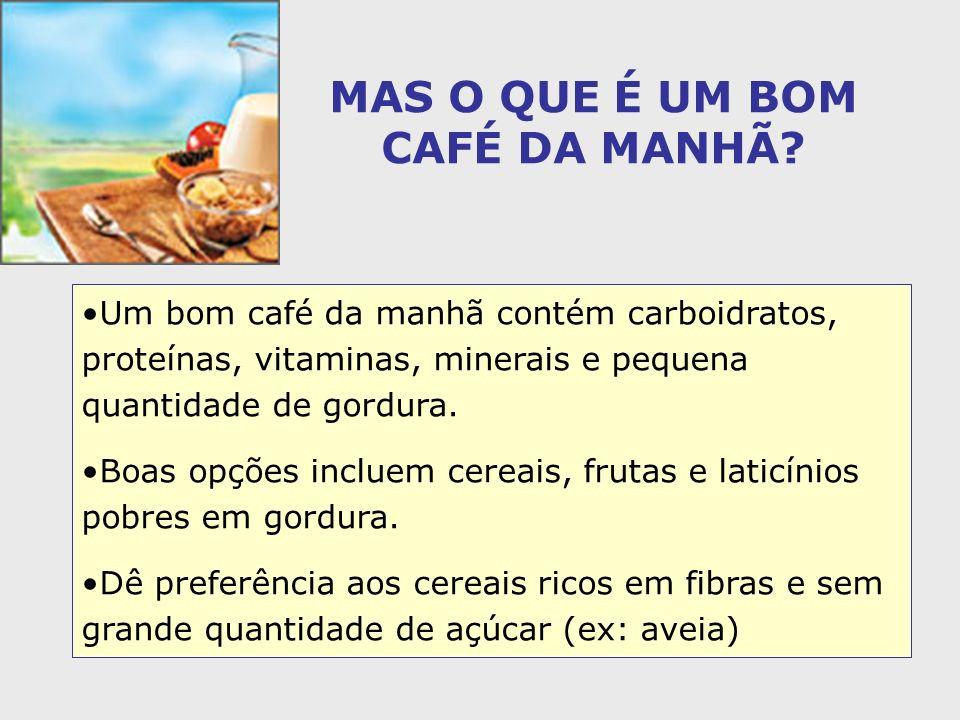 MAS O QUE É UM BOM CAFÉ DA MANHÃ