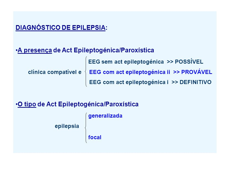 DIAGNÓSTICO DE EPILEPSIA: