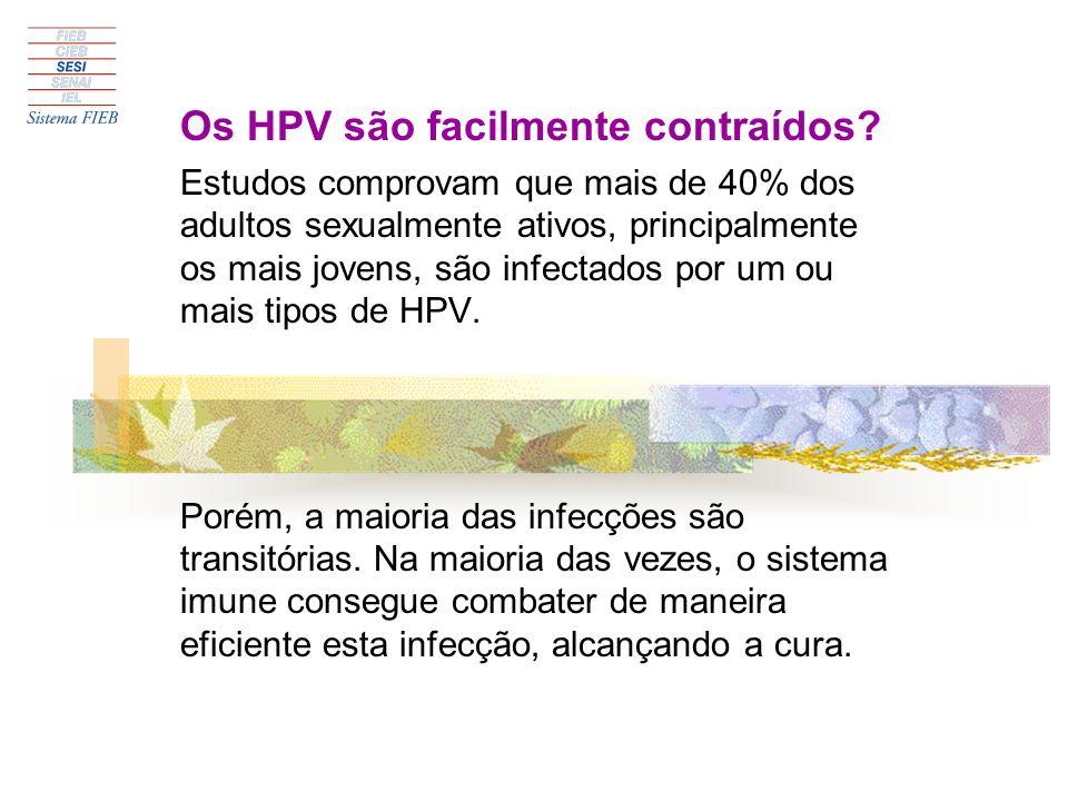 Os HPV são facilmente contraídos