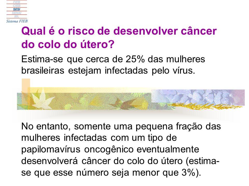 Qual é o risco de desenvolver câncer do colo do útero
