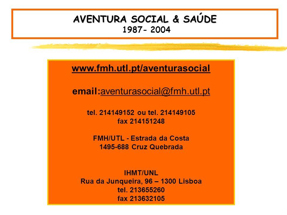AVENTURA SOCIAL & SAÚDE 1987- 2004