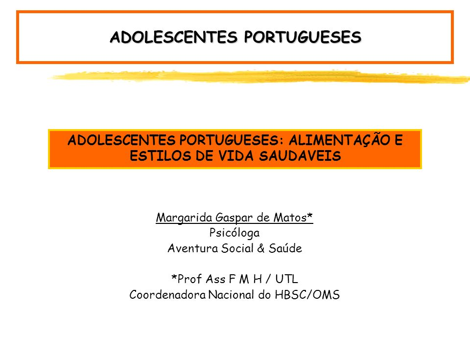 ADOLESCENTES PORTUGUESES