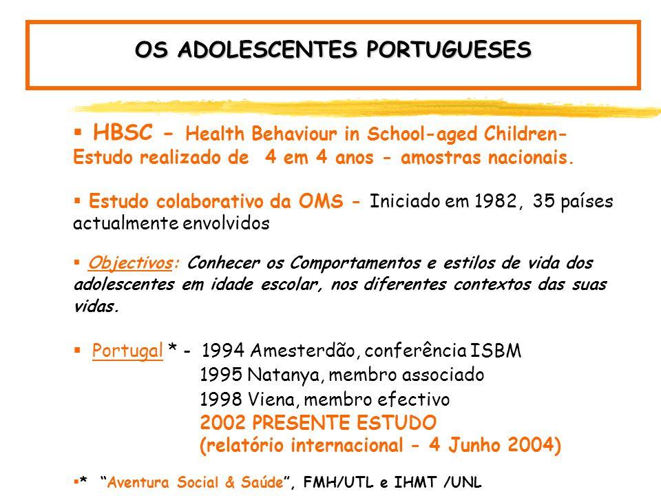 OS ADOLESCENTES PORTUGUESES