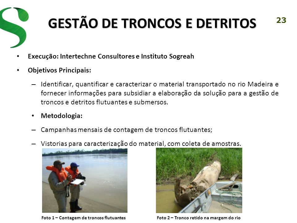 GESTÃO DE TRONCOS E DETRITOS