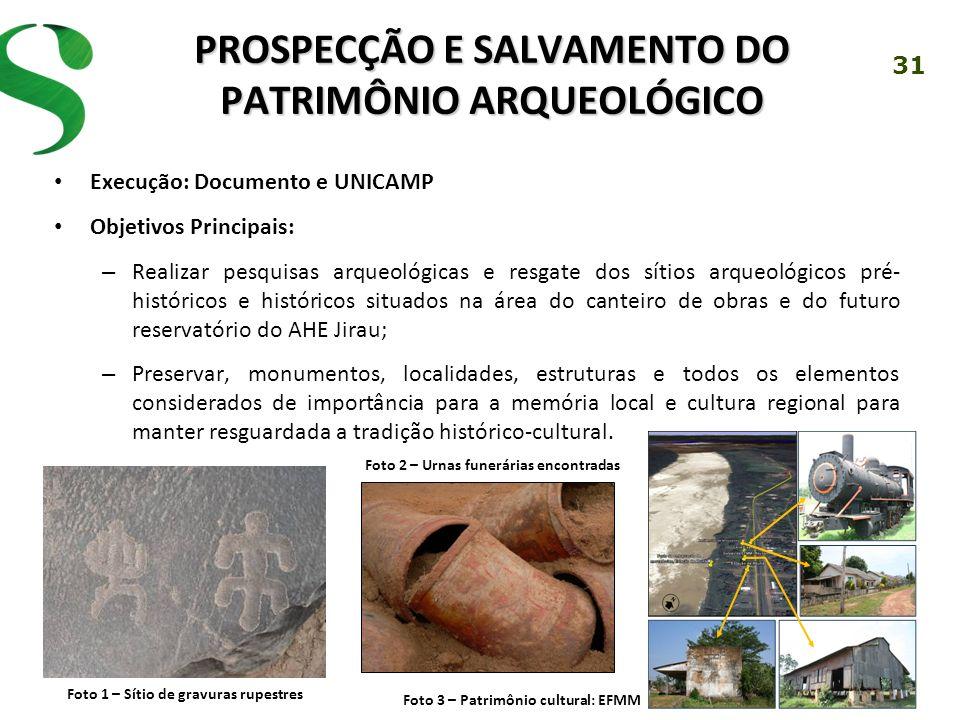 PROSPECÇÃO E SALVAMENTO DO PATRIMÔNIO ARQUEOLÓGICO