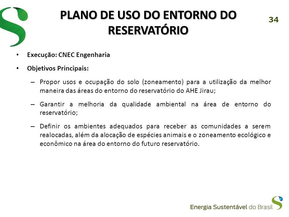 Plano de Uso do Entorno do Reservatório