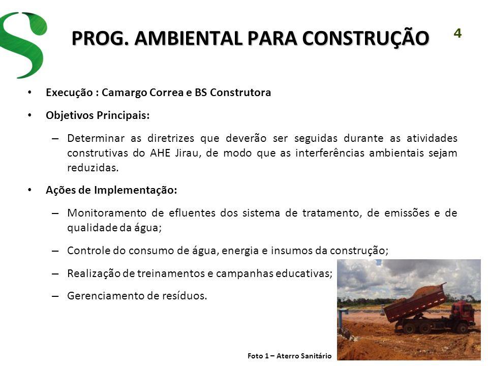 PROG. AMBIENTAL PARA CONSTRUÇÃO