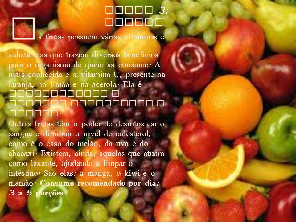 Grupo 3: Frutas