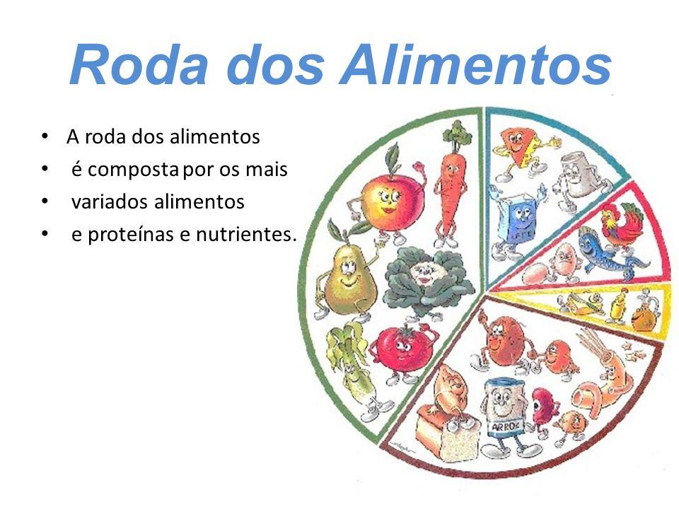 Roda dos Alimentos A roda dos alimentos é composta por os mais