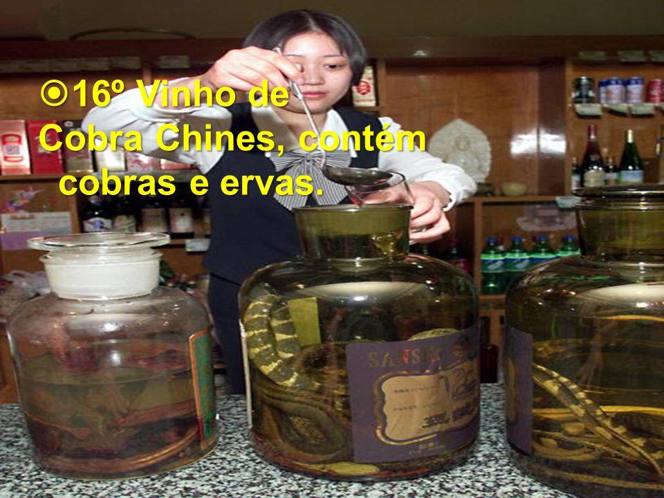 16º Vinho de Cobra Chines, contém cobras e ervas.