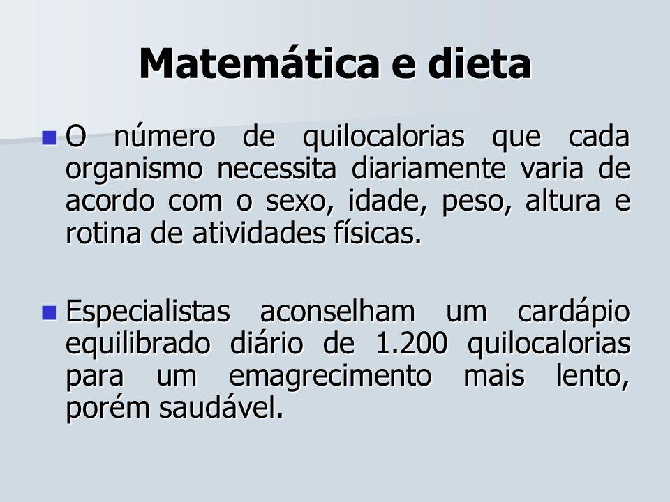 Matemática e dieta