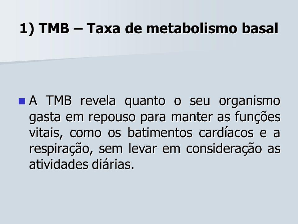 1) TMB – Taxa de metabolismo basal