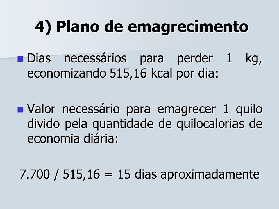 4) Plano de emagrecimento