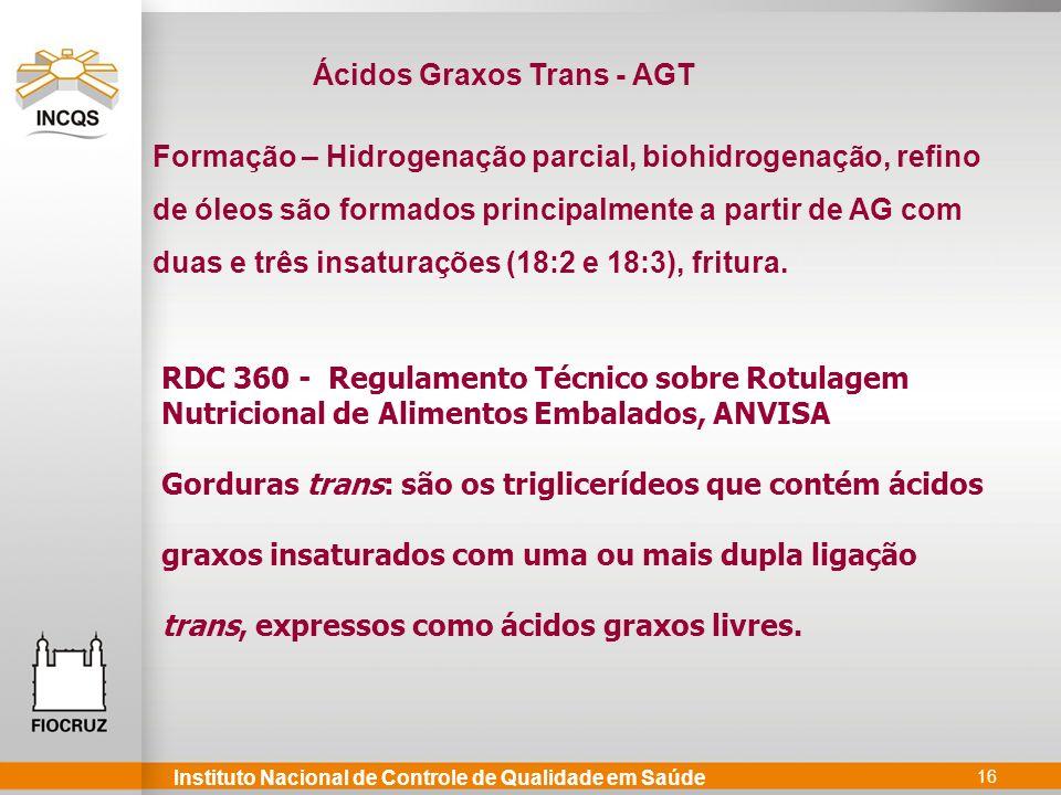 Ácidos Graxos Trans - AGT