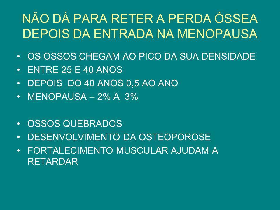 NÃO DÁ PARA RETER A PERDA ÓSSEA DEPOIS DA ENTRADA NA MENOPAUSA
