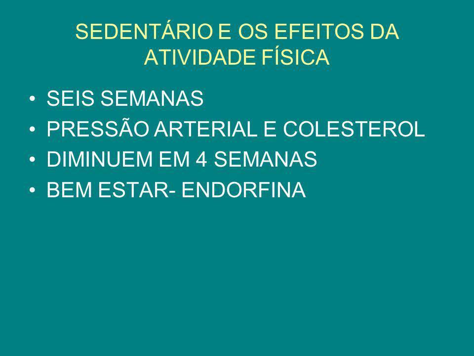 SEDENTÁRIO E OS EFEITOS DA ATIVIDADE FÍSICA