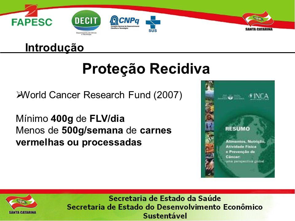Proteção Recidiva Introdução World Cancer Research Fund (2007)