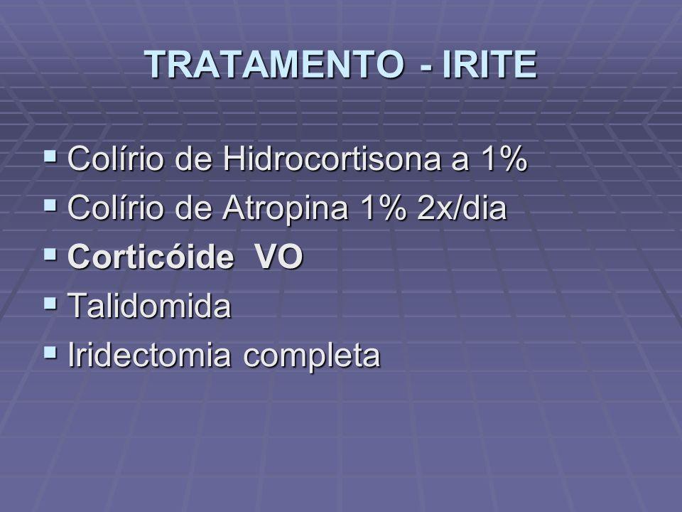 TRATAMENTO - IRITE Colírio de Hidrocortisona a 1%