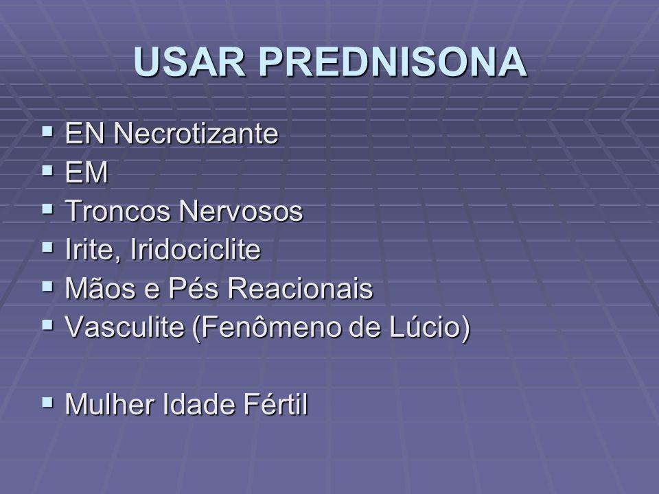 USAR PREDNISONA EN Necrotizante EM Troncos Nervosos