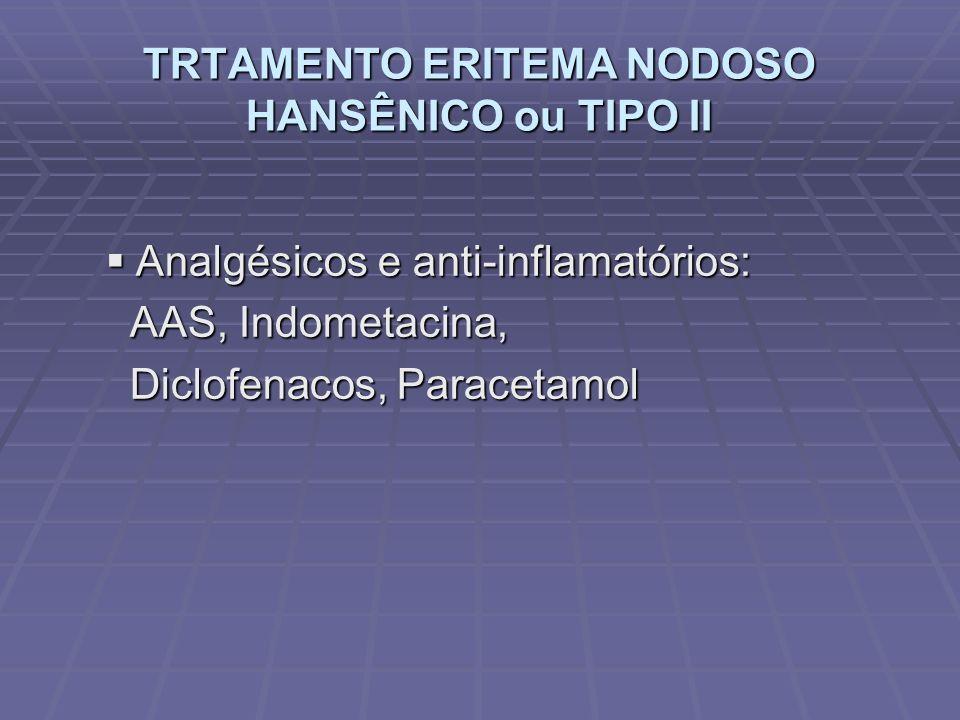 TRTAMENTO ERITEMA NODOSO HANSÊNICO ou TIPO II