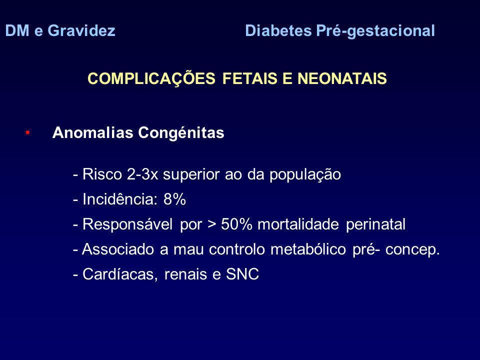 DM e Gravidez Diabetes Pré-gestacional