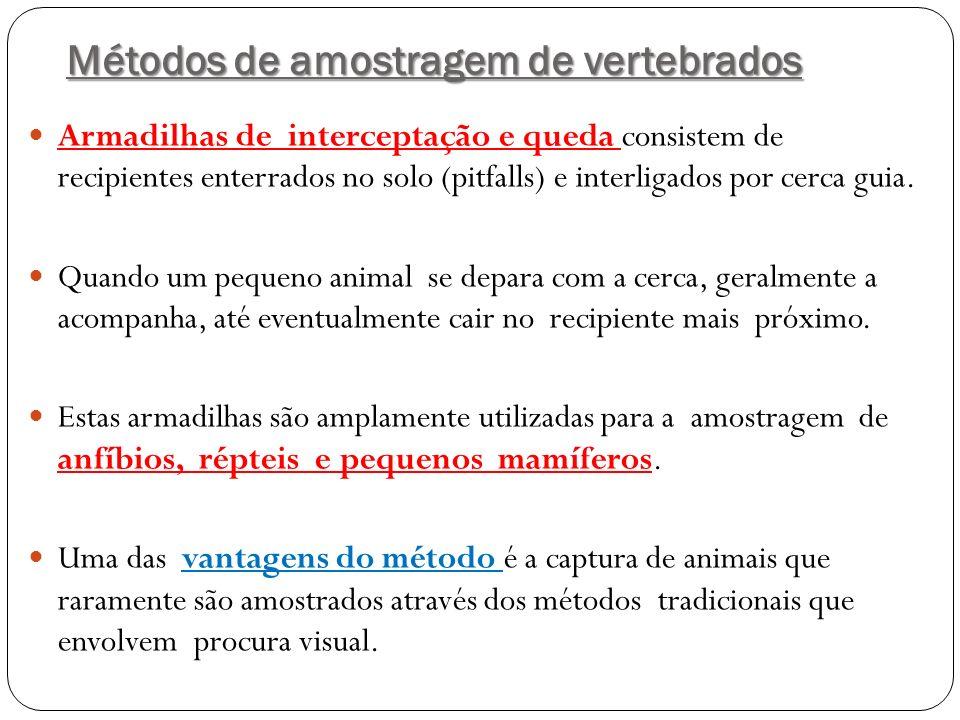 Métodos de amostragem de vertebrados